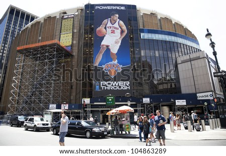 NEW YORK CITY, NY - JUNE 3: Madison Square Garden is an indoor arena that sits above Penn Station. It is home to the NY Knicks (NBA), NY Rangers (NHL) and NY Liberty (WNBA), June 3rd, 2012 in NYC