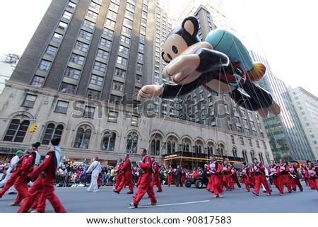NEW YORK CITY, NY - NOVEMBER 24: Paul Frank Julius balloon floats in the Macy's 85th Annual Thanksgiving Day Parade on November 24, 2011 in New York City, New York.