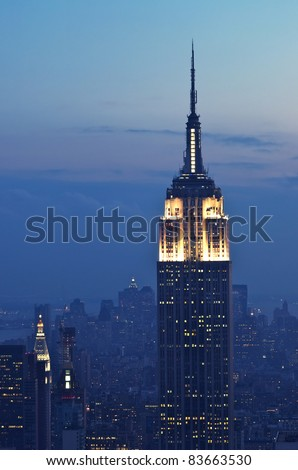 NEW YORK CITY, NY - SEPT 18: The Empire State Building was the world's tallest building (443,2 m) for more than 40 years. September 18, 2008 in Manhattan, New York Cit