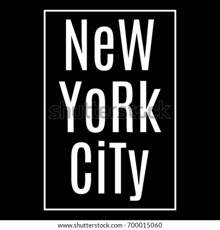 New York city. NY t-shirt print design and apparels graphic. Fashion typography, poster, banner.