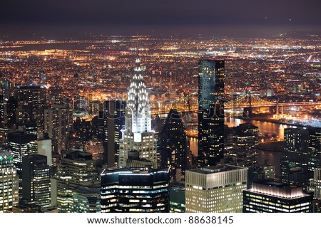 NEW YORK CITY, NY, USA - MAR 30: Chrysler Building at night on March 30, 2011 in Manhattan, New York City. It was designed by William Van Alena as Art Deco architecture and the famous landmark.