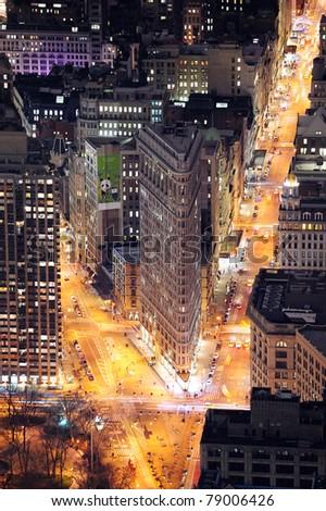 NEW YORK CITY, NY, USA - MAR 30: Flatiron Building was designed by Chicago's Daniel Burnham and was designated a New York City landmark in 1966. March 30, 2011 in Manhattan, New York City.