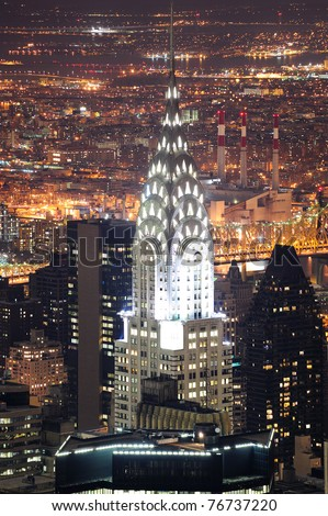 NEW YORK CITY, NY, USA - MAR 30: The Chrysler Building was designed by architect William Van Alena as Art Deco architecture and the famous landmark. March 30, 2011  in Manhattan, New York City.