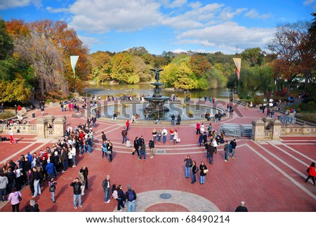NEW YORK CITY - Oct 21: Central Park, a National Historic Landmark since 1963, is the most visited urban park in the United States. October 21, 2010 in Manhattan, New York City.