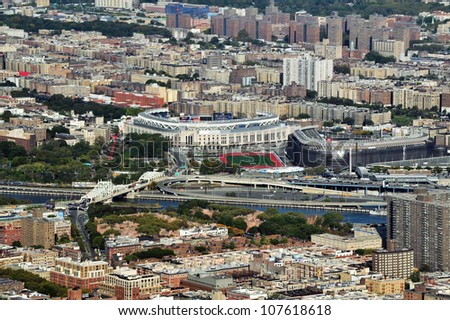 NEW YORK CITY - OCTOBER 13: Aerial view of the Yankees Stadium on October 13, 2009 in New York. It is the home of the New York Yankees, one of the city's Major League Baseball (MLB) franchises.
