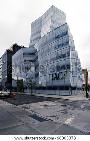 NEW YORK CITY - OCTOBER 1: IAC Headquarters, designed by the famed architecture Frank Gehry, is the home of the global Internet company Interactivecorps October 1, 2010 in New York, NY.