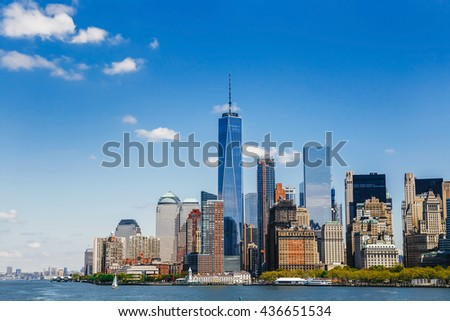New York City panorama with Manhattan Skyline #436651534