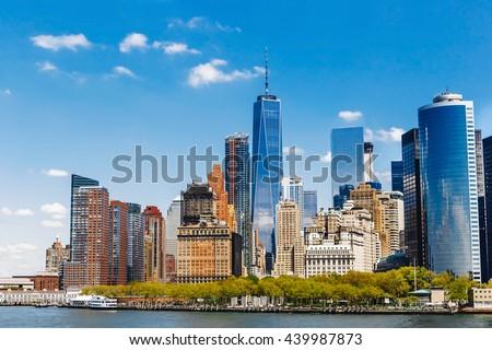 New York City panorama with Manhattan Skyline #439987873