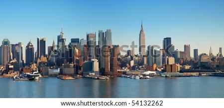 New York City panorama with Manhattan Skyline over Hudson River. #54132262