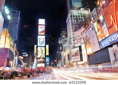 NEW YORK CITY - SEP 5: Times Square, featured with Broadway Theaters and huge number of LED signs, is a symbol of New York City and the United States,  September 5, 2009 in Manhattan, New York City.