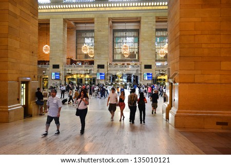 NEW YORK CITY - SEPTEMBER 14: Grand Central Station on September 14, 2012 in New York, New York. Grand Central Terminal is the world\'s largest train station by number of platforms.