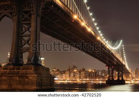new york city skyline at night. new york city skyline at night