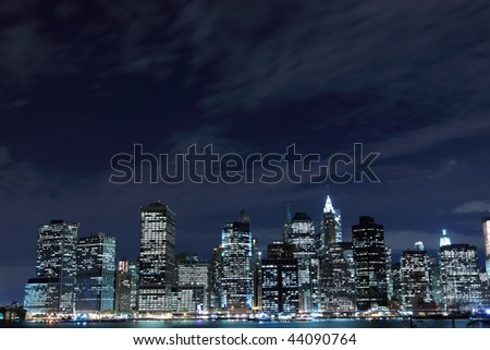 new york city skyline at night wallpaper. New+york+city+night+lights