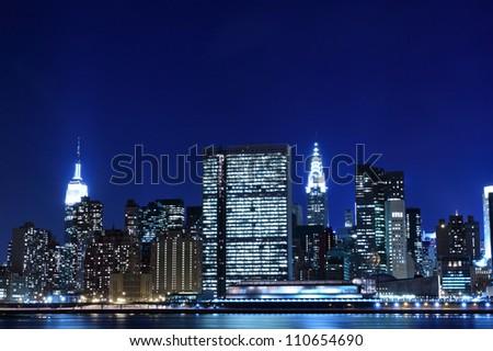 New York City skyline at Night Lights, Midtown Manhattan #110654690