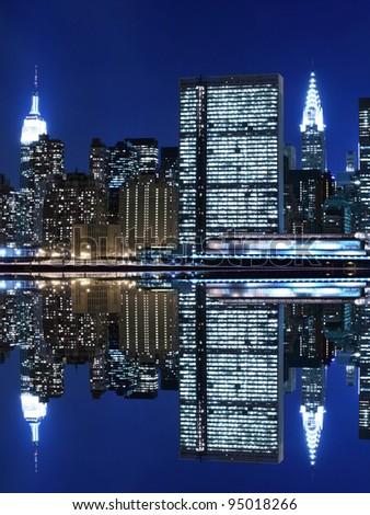 New York City skyline at Night Lights, Midtown Manhattan #95018266