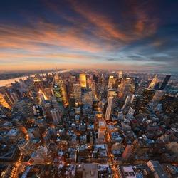 New York City skyline at sunset /NewYork