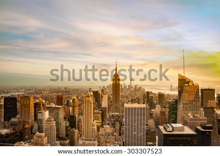 new york city skyline for background #303307523