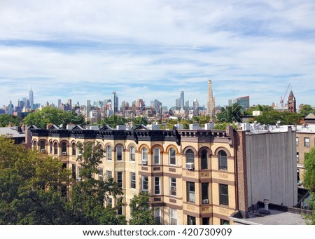 New York City skyline from Park Slope, Brooklyn