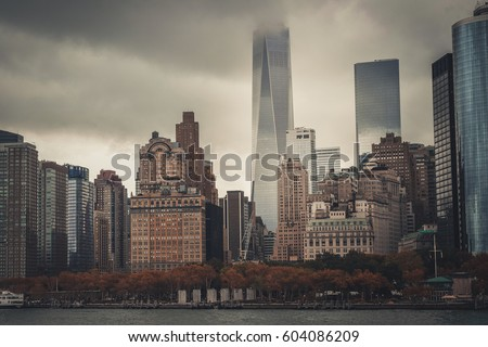 New York city skyline, Manhattan  #604086209