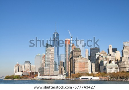New York City skyline, United States #577743427
