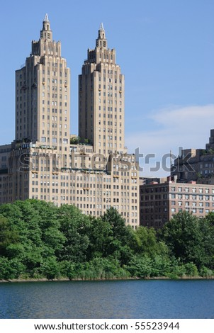 New York City Skyscraper Apartments Near Central Park Stock Photo 55523944