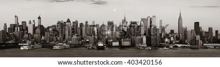 New York City skyscrapers urban view. #403420156