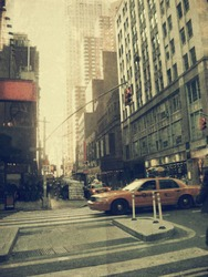 New York city. Street. Old style image