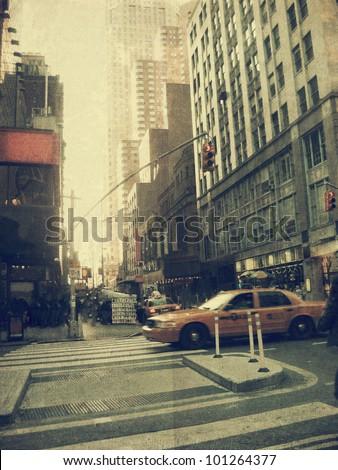 "stock photo new york city street old style image 101264377 - Каталог - Фотообои ""Города"""