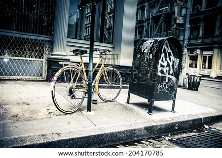 new york city street scene  ...