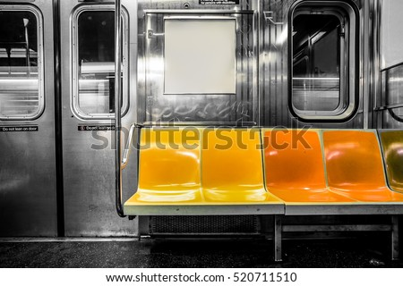 new york city subway car...