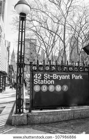 New York City Subway Signs, U.S.A.