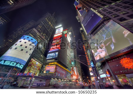 new york times square canvas. new york times square at