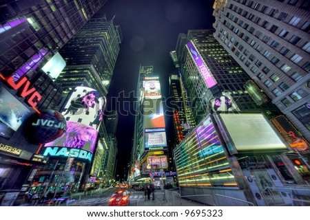 time square new york at night. stock photo : New York City,