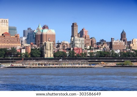 New York City, United States - Brooklyn skyline.