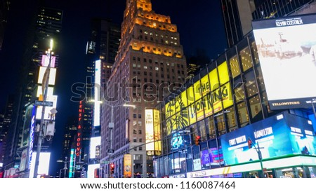 New York City/United States - 06.14.2018: Time square New York at Night #1160087464