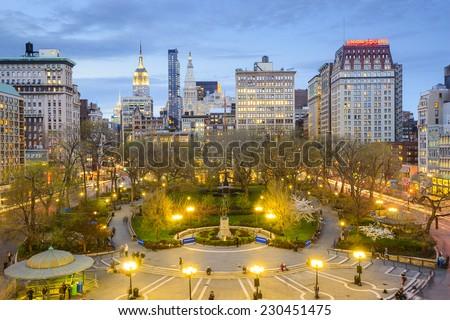 New York City, USA cityscape at Union Square in Manhattan. #230451475