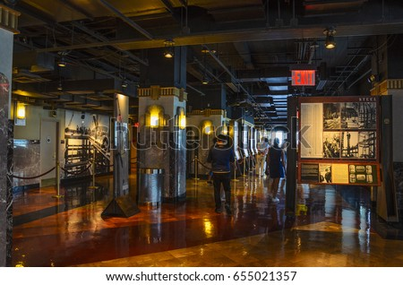 NEW YORK CITY - USA, JUNE 2016: Interior of the Empire State Building on June 12 2016 in the Financial District of New York, USA - Shutterstock ID 655021357