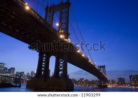 New York City- view of Manhattan Bridge #11903299