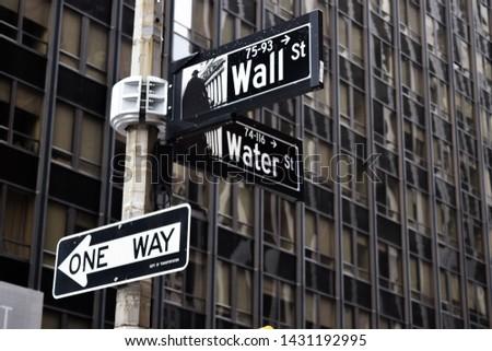 New york city, Wall street, money, street