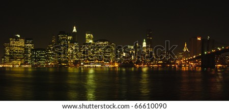 New York cityscape - stock photo