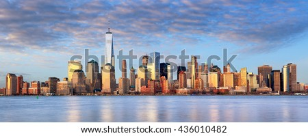 New York cityscape, USA #436010482