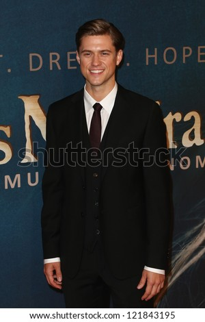 "NEW YORK-DEC 10: Actor Aaron Tviet attends the premiere of ""Les Miserables"" at the Ziegfeld Theatre on December 10, 2012 in New York City."