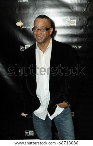 NEW YORK - DECEMBER 1 - ESPN anchor Stuart Scott arrives at the New Era launch party for Johnny Nunez Limited Edition 59FIFTY CAP at the New Era Flagship store in New York on December 1, 2010.