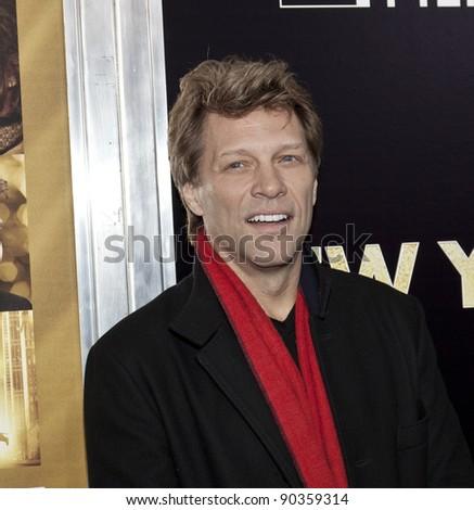 NEW YORK - DECEMBER 07: Jon Bon Jovi attends 'New Year's Eve' premiere at Ziegfeld Theatre during Tribeca Film Institute Annual Benefit Gala on December 7, 2011 in New York City.