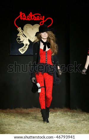 NEW YORK - FEBRUARY 14: A model walks the runway at the Betsey Johnson Collection for Fall/Winter 2010 during Fashion Week on February 14, 2010 in New York
