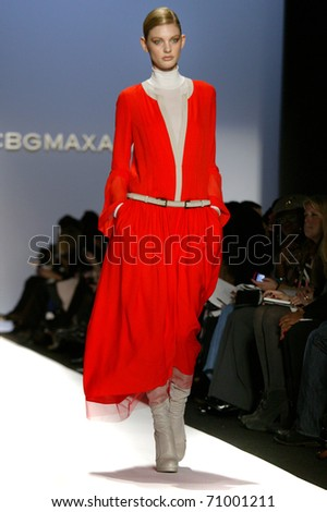 NEW YORK - FEBRUARY 10: Model Patricia van der Vliet walks the runway at the BCBG Max Azria Fall 2011 Collection presentation during Mercedes-Benz Fashion Week on February 10, 2011 in New York.
