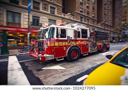 new york firefighter pumper...