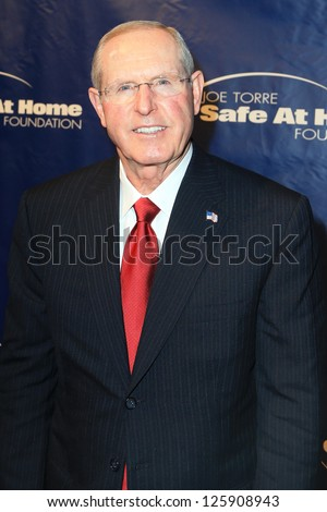 NEW YORK-JAN 24: New York Giants head coach Tom Coughlin attends the 10th Anniversary Joe Torre Safe At Home Foundation Gala at Pier 60, Chelsea Piers on January 24, 2013 in New York City.