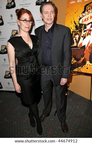 "NEW YORK - JANUARY 16 : Steve Buscemi and wife Jo Andres attend the ""Saint John Of Las Vegas"" New York Premiere on January 16th, 2010 in NYC"