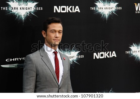 "NEW YORK-JULY 16: Actor Joseph Gordon-Levitt attends the world premiere of ""The Dark Knight Rises"" at AMC Lincoln Square Theater on July 16, 2012 in New York City."